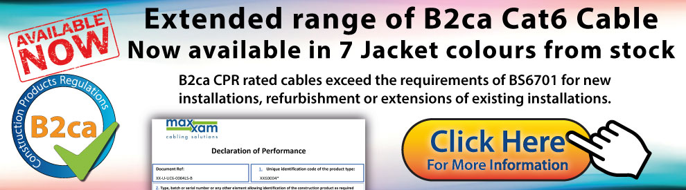 Extended range of B2ca Cat6 Cable