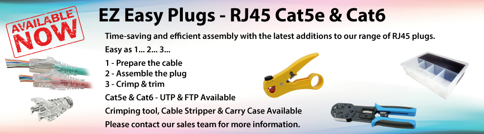 EZ Easy Plugs - RJ45 Cat5e & Cat6
