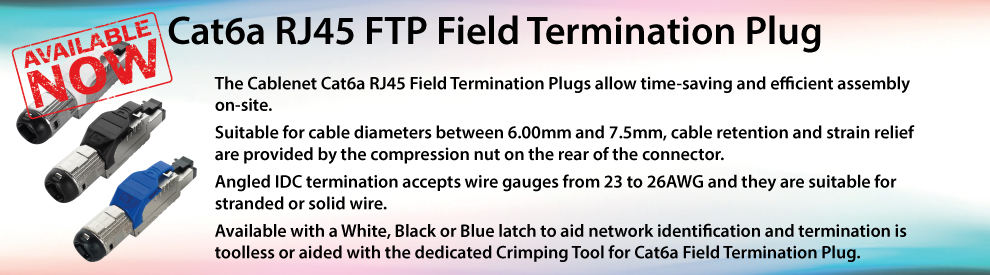 Cat6a RJ45 FTP Field Termination Plug