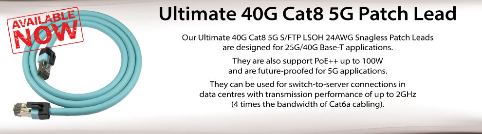 Ultimate 40G Cat8 5G Patch Leads
