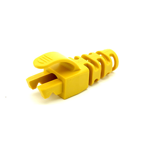 RJ45 Snagless Strain Relief Flush Boot Yellow 5.5mm