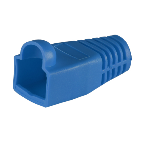 RJ45 Cat6a Boot Blue 6.5mm