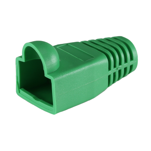 RJ45 Cat6a Boot Green 6.5mm