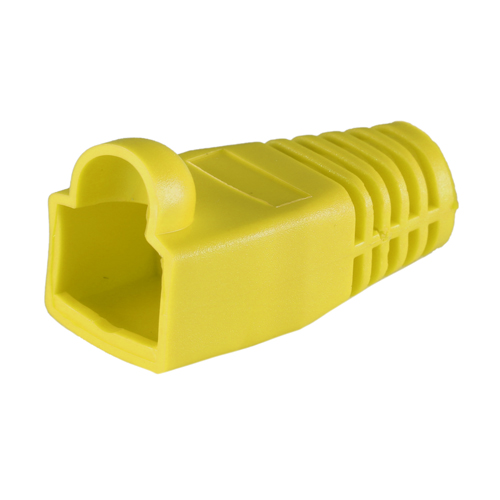 RJ45 Cat6a Boot Yellow 6.5mm