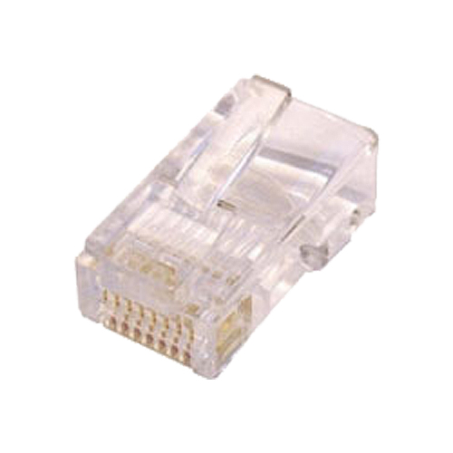 Cat5e RJ45 UTP Round Crimp Plug Solid
