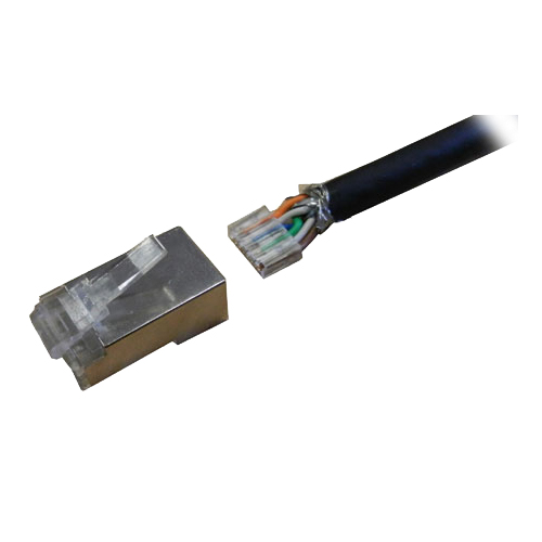 Cat6 RJ45 FTP 50u Crimp Plug Stranded (2 Part)