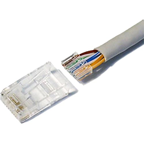 Cat6 RJ45 UTP 50u Crimp Plug Stranded (2 Part)