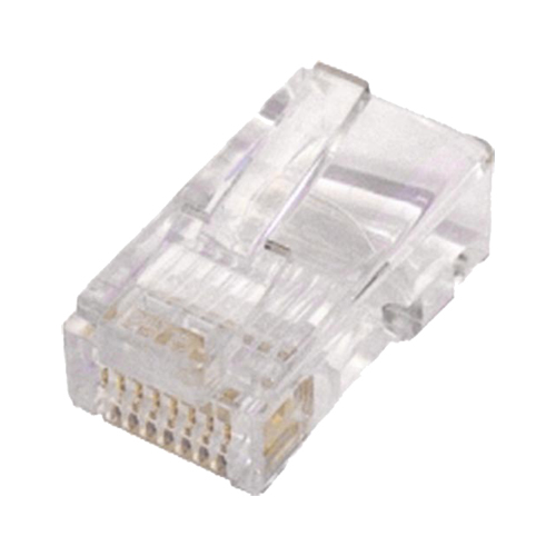 Cat5e RJ45 UTP Flat Crimp Plug Stranded