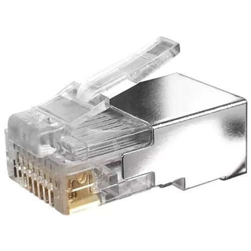 RJ45 STP 50u Crimp Plug Solid/Stranded
