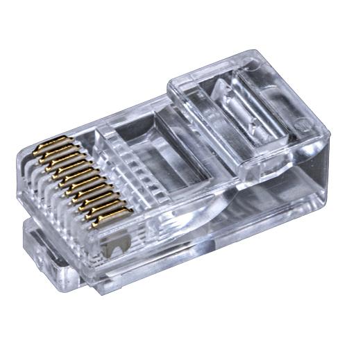 RJ48 UTP 10P10C 50u Crimp Plug Stranded