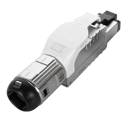 Cat6a RJ45 FTP Field Termination Plug With White Latch