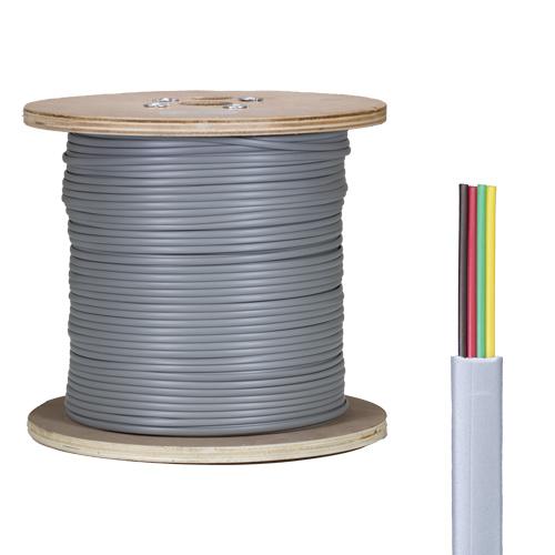 4 Core PVC CPR Eca Silver Grey Flat Modular Cable 305m Reel