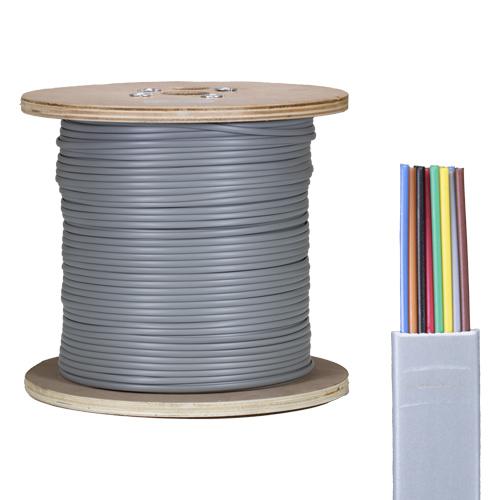8 Core PVC CPR Eca Silver Grey Flat Modular Cable 305m Reel