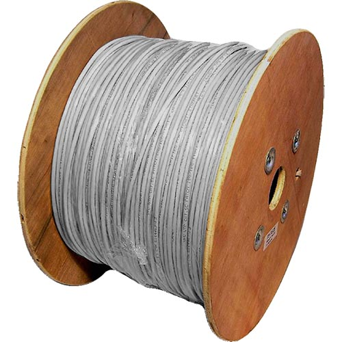 Cat5e Grey U/UTP PVC 24AWG Stranded Patch Cable 500m Reel