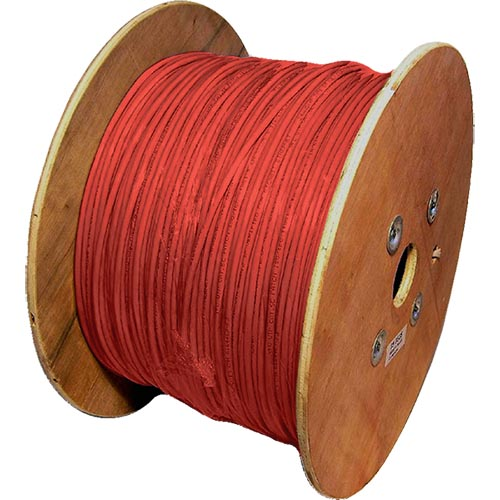 Cat5e Red U/UTP PVC 24AWG Stranded Patch Cable 500m Reel
