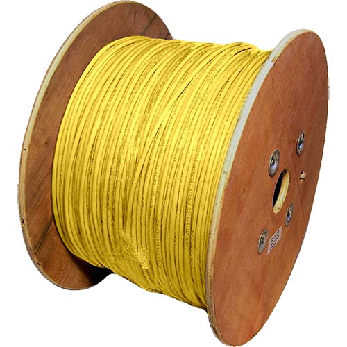 Cat5e Yellow U/UTP PVC 24AWG Stranded Patch Cable 500m Reel