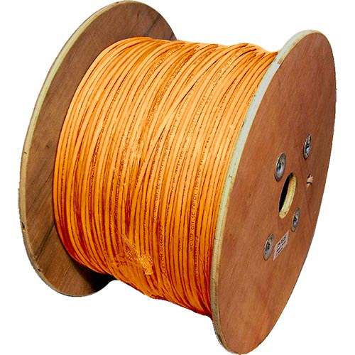 Cat5e Orange U/UTP LSOH 24AWG Stranded Patch Cable 500m Reel