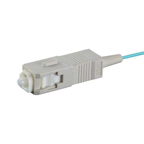 1m OM3 50/125 SC Aqua Fibre Pigtail 900um