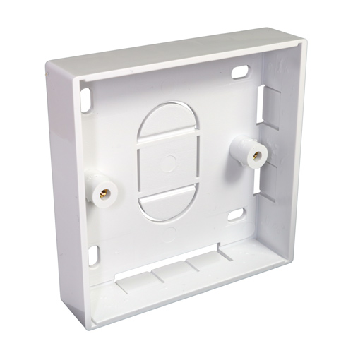 Single Gang PVC Back Box 21mm