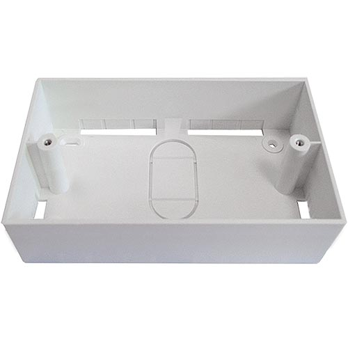 Double Gang PVC Back Box 32mm