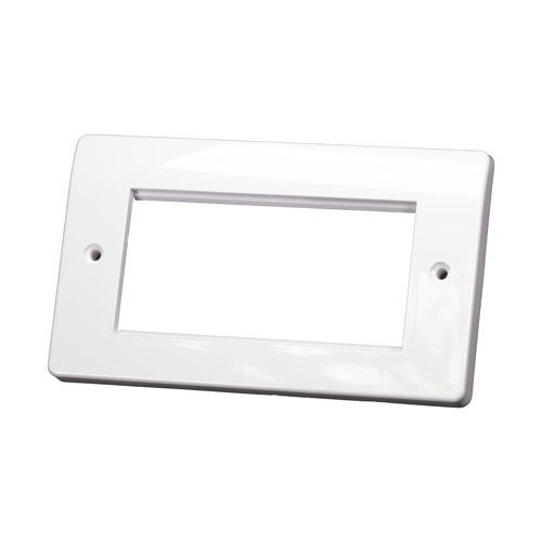Double Gang MK Style White Faceplate