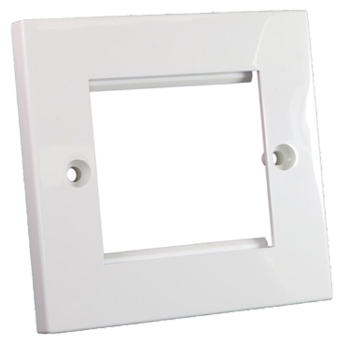 Flat Faceplate 50mm x 50mm Single Gang