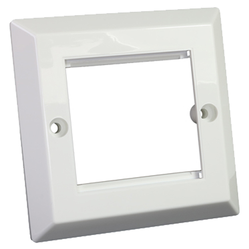 Bevelled Faceplate 50mm x 50mm Single Gang
