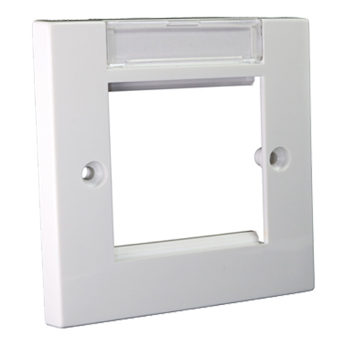 Flush Faceplate 86mm x 86mm with Labelling Window Single Gang