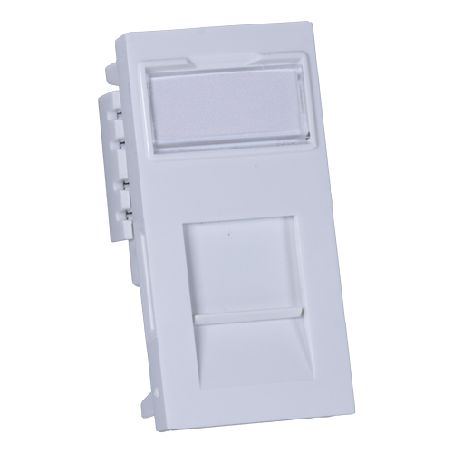 Cat5e UTP Module 25mm x 50mm White