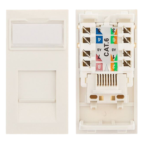Cat6 UTP Low Profile Module 25mm x 50mm White