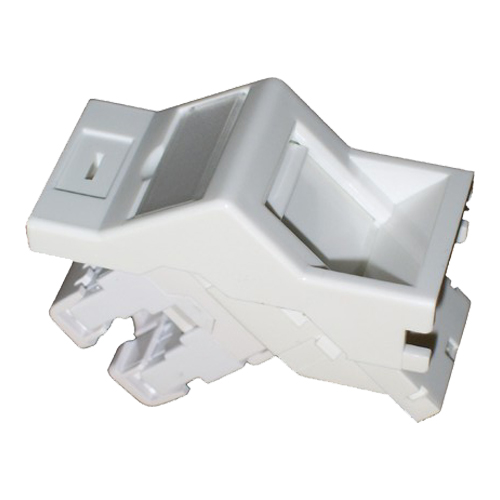 Cat6 UTP Angled Module 25mm x 50mm White