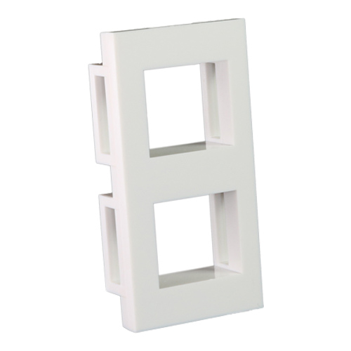 2 Port Fascia for Keystone Jack (Unshuttered) 25mm x 50mm