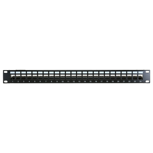 24 Port Cat6a 1u Unloaded Keystone Patch Panel