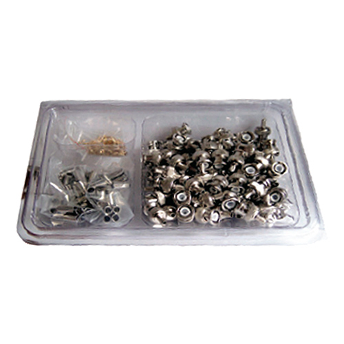 BNC Crimp Plug RG58CU Turned Handy Pack (100pcs)