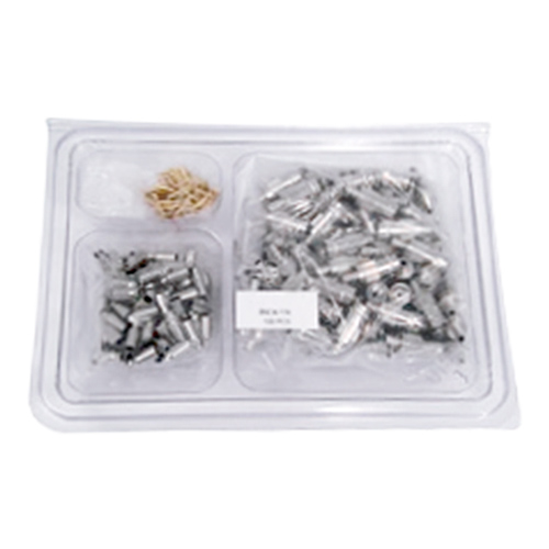 BNC 4 Part Crimp Jack RG179 Turned Handy Pack (100pcs)