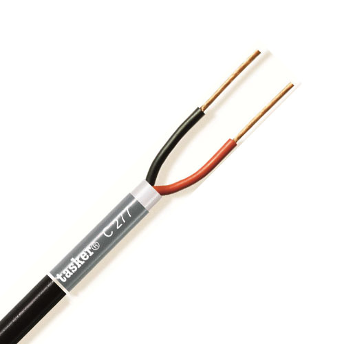 Tasker 100m Flexible Loudspeaker Cable 2 Core (4.0mm) PVC Black