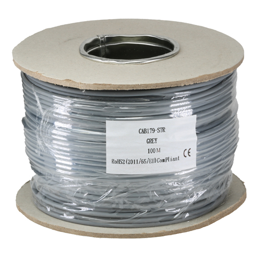 RG179 75Ohm Stranded LSOH CPR Eca Coax Cable Grey 100m Reel