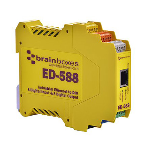 Brainboxes Ethernet - Digital IO 8 Inputs 8 Outputs