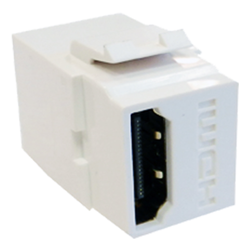 HDMI Female - Female (Gold) Keystone White