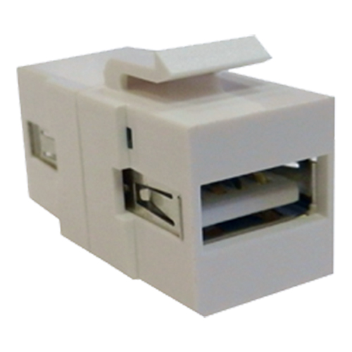 USB 2.0 Type A Female - Female Keystone White
