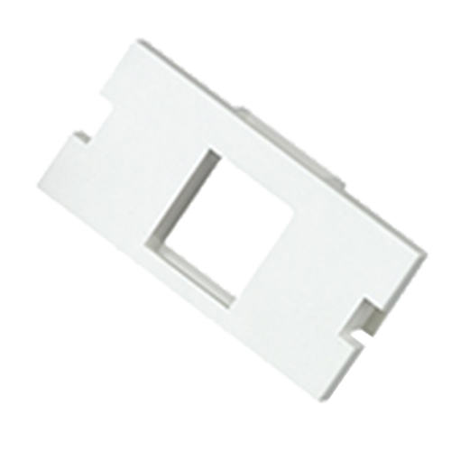 1 Port Keystone Housing (25mm x 50mm) White