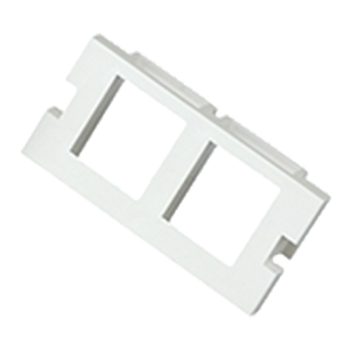 2 Port Keystone Housing (25mm x 50mm) White
