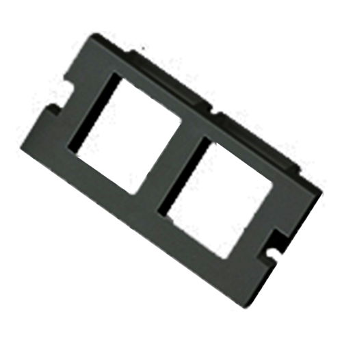 2 Port Keystone Housing (25mm x 50mm) Black