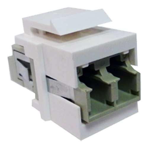 LC - LC Duplex MM Keystone White