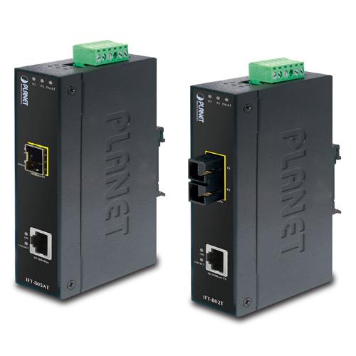 IP30 Industrial Fast Ethernet SFP Slim Media Converter