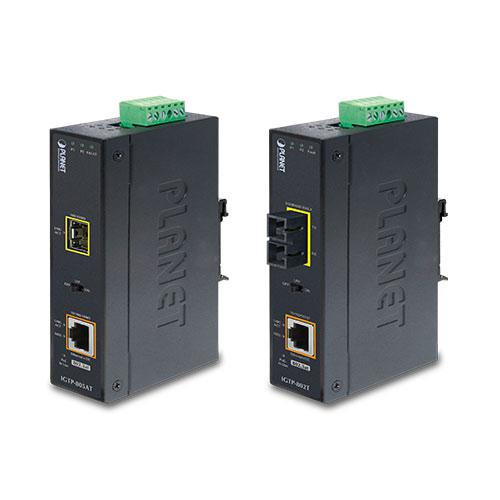 IP30 Industrial Gigabit PoE + SFP Media Converter