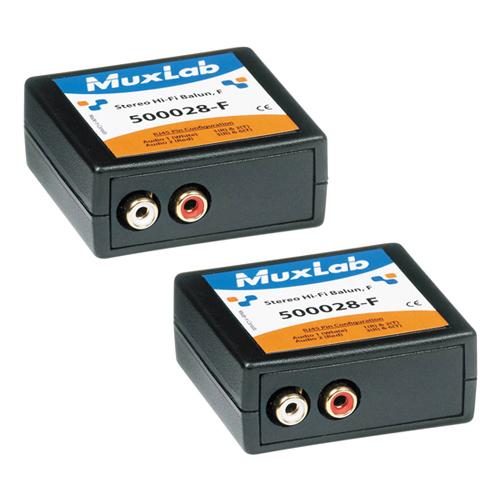 Muxlab Stereo HI FI Balun (RCA) Female (2Pk)