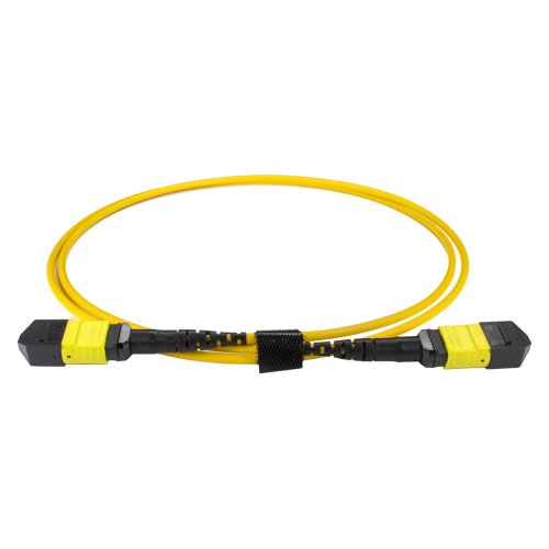 2m OS2 MPO (F) to MPO (F) Female 12F Yellow Trunk Cable Method B