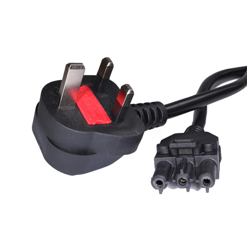 10m GST18 Female - UK (13Amp) Plug Wieland Black PVC Power Leads