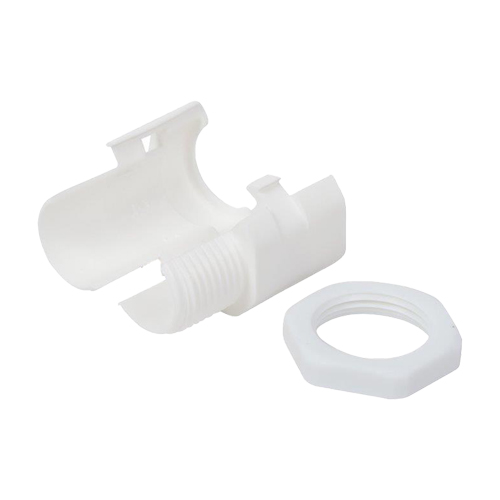 20mm Slit Threaded Gland & Locknut White (PK 10)
